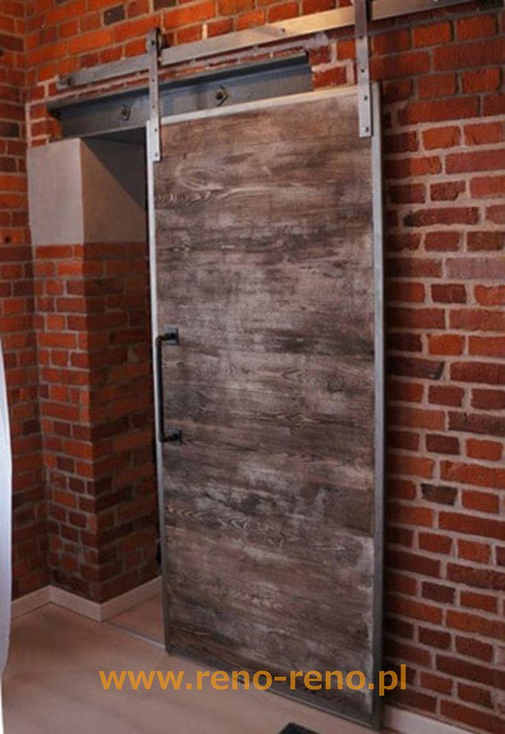 Drzwi przesuwne w stylu industrialnym. Pracownia Reno.