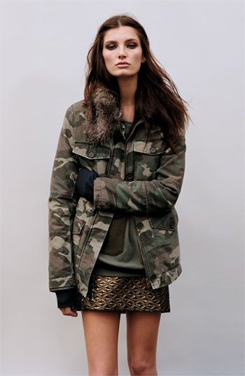 @Topshop Faux Fur Lined Camo Utility Jacket #Nordstrom #britishstyle