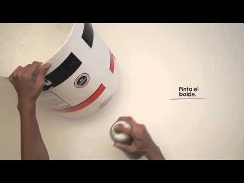 Un macetero con un balde de pintura DIY - YouTube