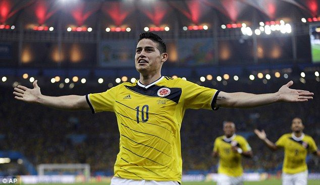 Revelation: Shakira's native Colombia - and especially James Rodriguez - have stolen the show at this World Cup. #WorldCup2014
