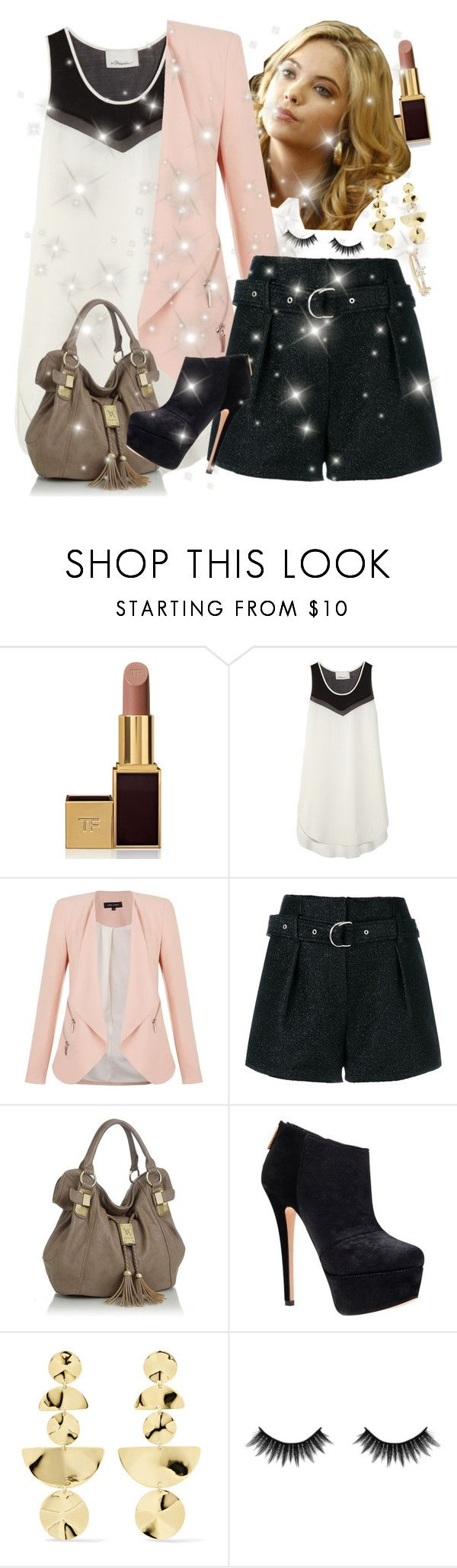 """""""Hanna Marin ♡"""" by faanciella ❤ liked on Polyvore featuring Tom Ford, 3.1 Phillip Lim, IRO, Carvela, Ippolita, Morphe and EF Collection"""