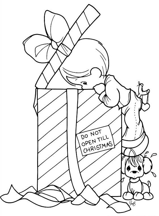precious moments christmas coloring page
