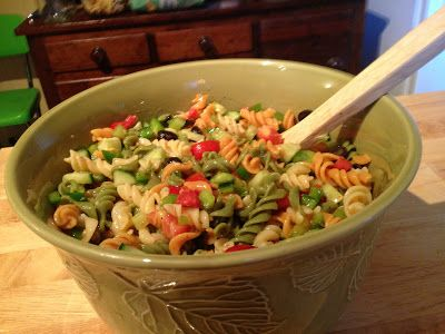 Cold Pasta Salad Great For Hot Summer Days Recipes