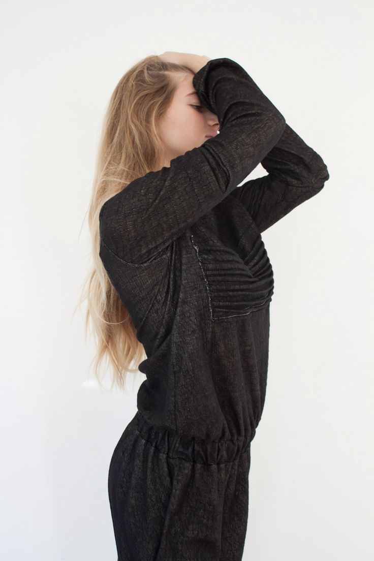 A personal favorite from my Etsy shop https://www.etsy.com/listing/222504390/holidays-sale-long-minimal-black-dress