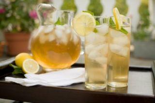 Thé vert glacé au citron