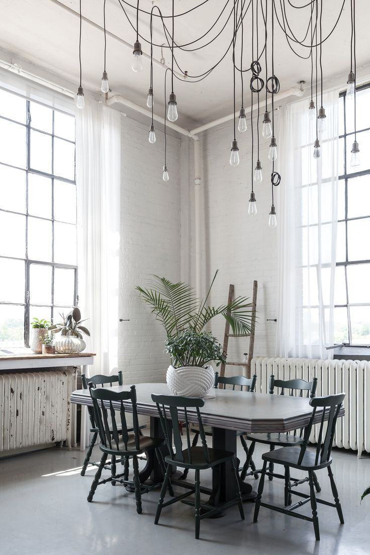 High Ceilings Are Just Asking For Creative Lighting Solutions When You Have The Space To
