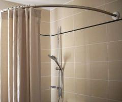 tringle rideau de douche, receveur, douche italienne, quart de rond, galbobain