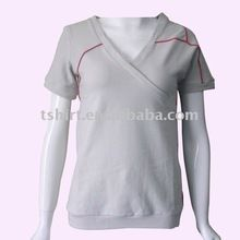 Blank women short sleeve v-neck fashion t-shirt  Best Seller follow this link http://shopingayo.space