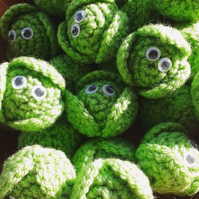 Crochet Christmas Brussels Sprout