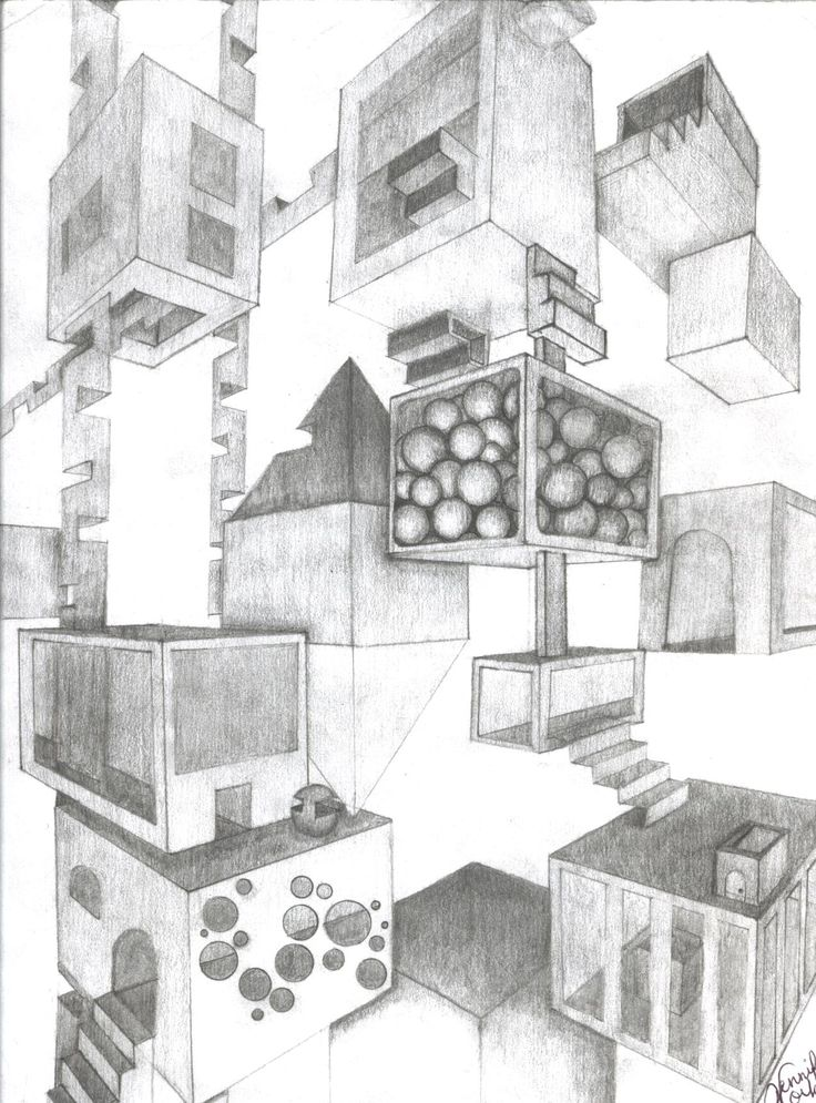 3d Perspective Drawing Room: 44 Best 2 Point Perspective Images On Pinterest