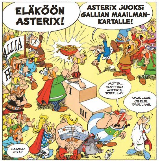 """Olympialaiset eivät juuri tarjonneet mahdollisuuksi mitalikahvitteluun. Asterix lääkitsee paatuneimmankin penkkiurheilijan mielipahan. """"Asterix olympialaisissa"""" juuri nyt lehtipisteissä ja kirjakaupoissa kautta maan. #olympialaiset #urheilu #menestys #sarjisklassikko"""