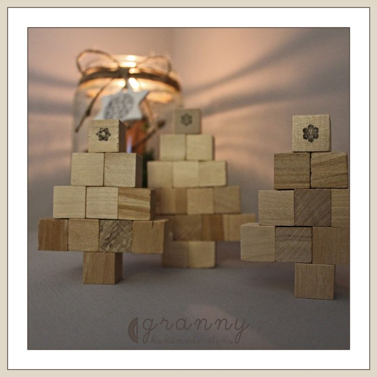 small wooden trees