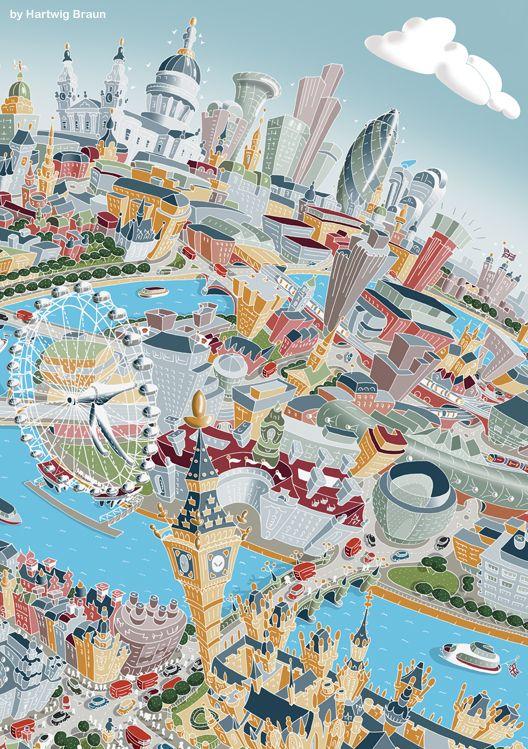 Hartwig Braun London map