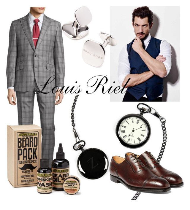 Louis Riel by operawithpearls on Polyvore featuring mode, Cathy's Concepts, Robert Graham and HUGO