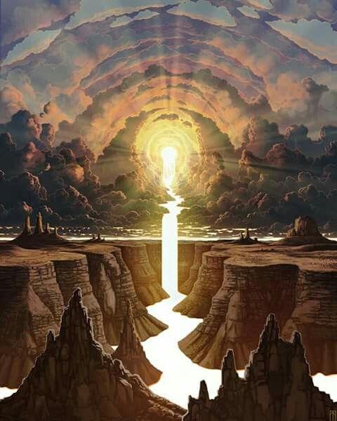 Luz divina unidade com o todo