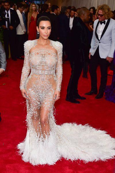 Kim Kardashian in Roberto Cavalli at the 2015 Met Gala.