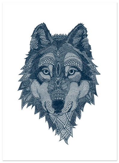 Bejeweled illustration of wolf by Claire Scully: Google Image, Art Illustrations, Claire Sculli, Illustrations Inspiration, Wolf Art, Image Results, Wolves, Clairesculli, Quiet Revolutions