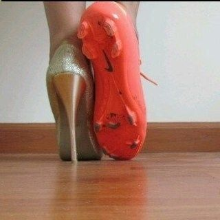 Soo gonna do this with my throwing shoes!