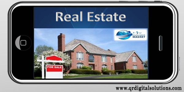 Presentation given by the real estate company on the mobile website to attract the people.