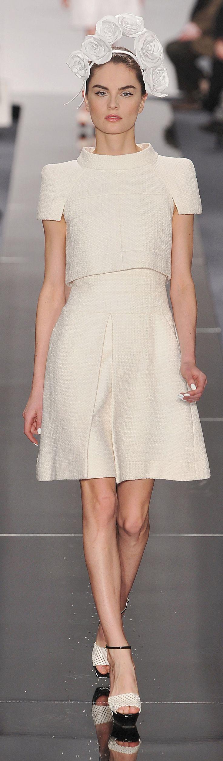 Chanel ~ Haute Couture Ivory Cape Dress Midi Dress