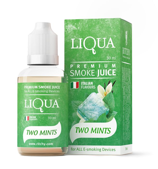 Buy Liqua eJuice - Two Mints 30ml in Auckland New Zealand (Z) and Australia. Free Delivery* and Discount.