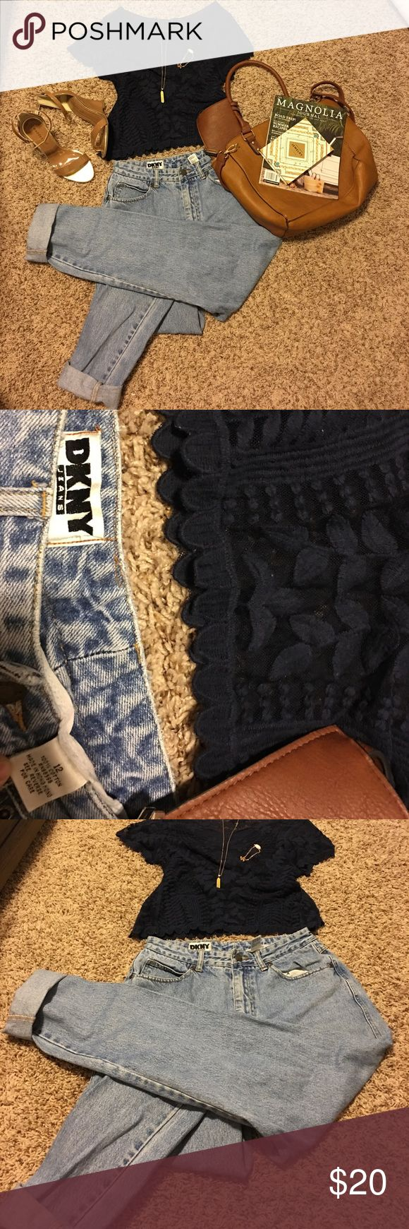 Vintage 90s DKNY jeans size 12. Vintage DKNY jeans size 12. Runs small.high wasted.light wash jeans Dkny Jeans Straight Leg