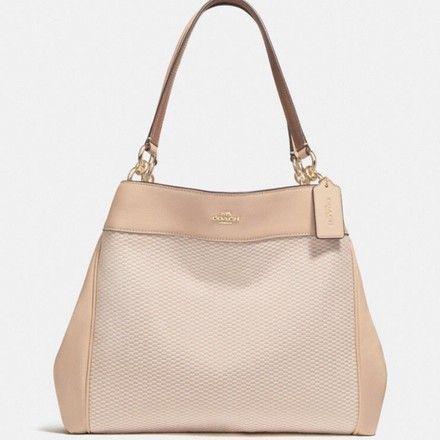 d0190880f562aa Coach Lexy Milk/ Beechwood/Light Gold Leather Shoulder Bag 52% off ...