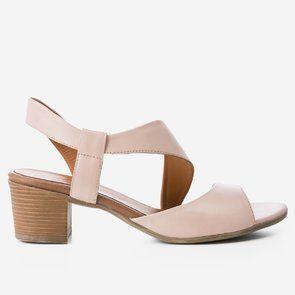 Sandale roz-pudra din piele naturala Corelia