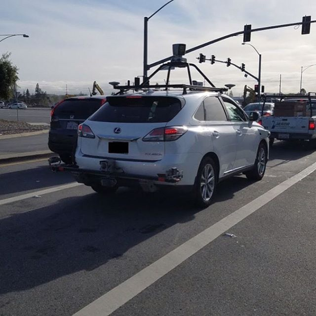 Apple's self-driving test Lexus SUV has been photographed on Silicon Valley roads.  Apple is using a Lexus RX450h SUV for its autonomous vehicle testing program, as revealed by documents filed with the California DMV in accordance with licensing requirements for self-driving tests in the state.  The equipment on the SUV include optical cameras, LiDAR, and radar, all of which appear to be off-the-shelf components, including Velodyne's top-of-the-line LiDAR unit atop a frame that extends a few…