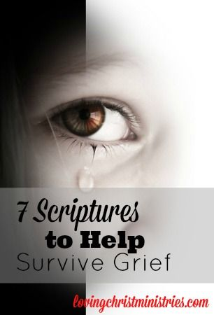 7 Scriptures to Help Survive Grief - Loving Christ Ministries - After a devastating grief, I turned to these verses for healing.