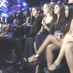 You have to admit, Taylor Swift's reactions  to Miley Cyrus at the VMAs was one of the best. (Gif)