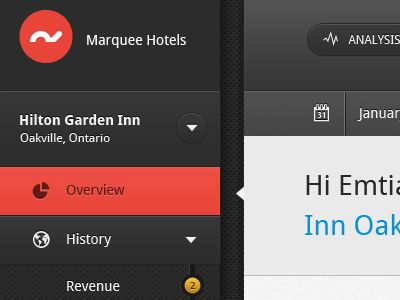 UI element from hotel management software by Ashish Thakkar via Dribbble