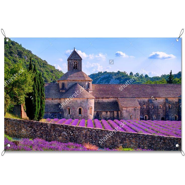 Tuinposter Franse lavendel velden   Maak je tuin nog mooier met een weerbestendige tuinposter van YouPri. Bewezen kleurbehoud! #tuinposter #tuindoek #tuin #poster #weerbestendig #kleurbehoud #frontlit #goedkoop #voordelig #spanners #ogen #frans #frankrijk #lavendel #veld #paars #bloemen #natuur #landschap
