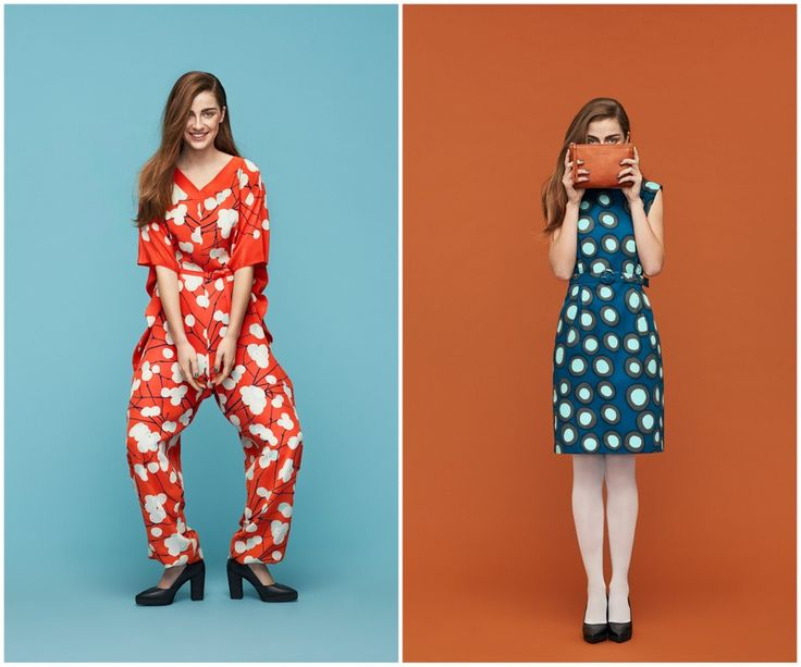 Finnish fashion Marimekko AW13 collection: Hiere jumpsuit & Huove dress. Click to see more: www.fashionflashfinland.com !