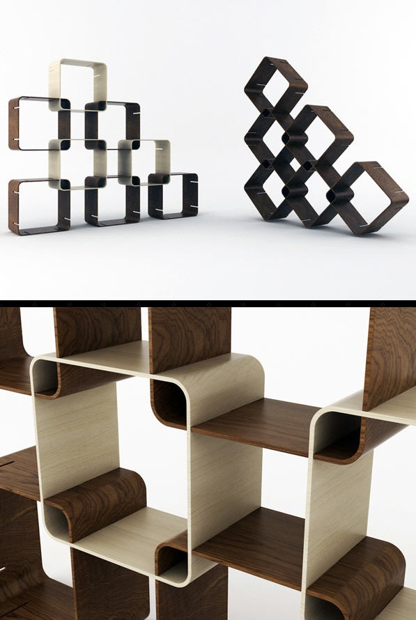 Smartsquare Is A Simple, Beautiful And Customizable Shelving Solution Made  Of Bent Plywood (and Amazing Ideas