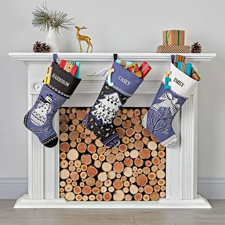 Shop Starry Night Stockings. Our Starry Night Stockings have delightful designs with printed, appliqued and embroidered details. They feature wintry color schemes and festive images, including a snowman, bird and tree.