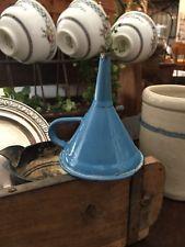 Vintage Kitchenware Blue Enamelware Funnel FREE SHIPPING