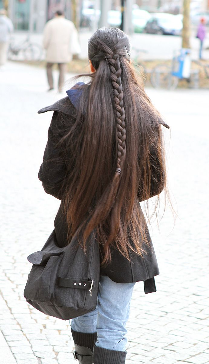 I can get my hair that long, I just wish it was as think as hers! My braid would…