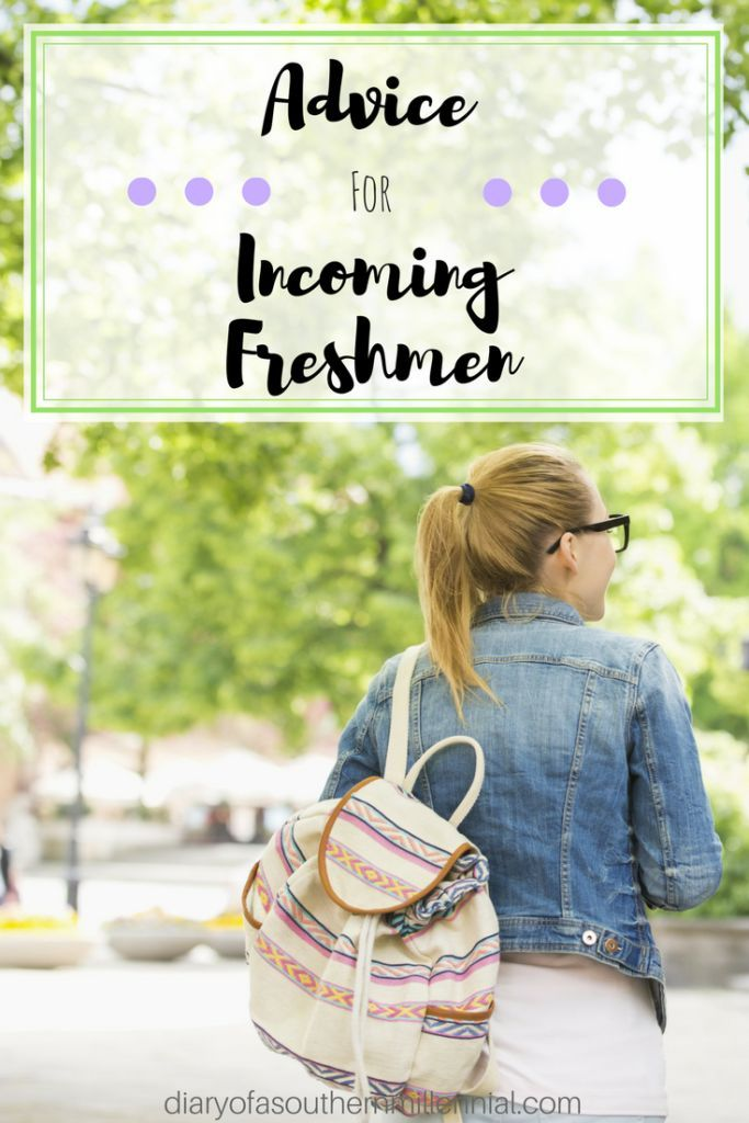 My advice for incoming college freshmen. Tips and advice you should know to make your first semester of college easier and stress-free.