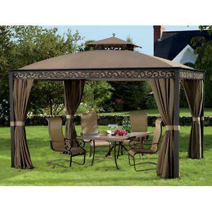 Gazebos and Canopies | outdoors southport 10 x 12 gazebo pool deck patio yard garden gazebo ...