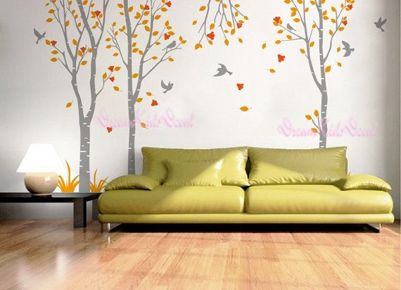 Gentil Birch Trees Decalswall Decals Nature Wall Decals By DreamKidsDecal, $88.00