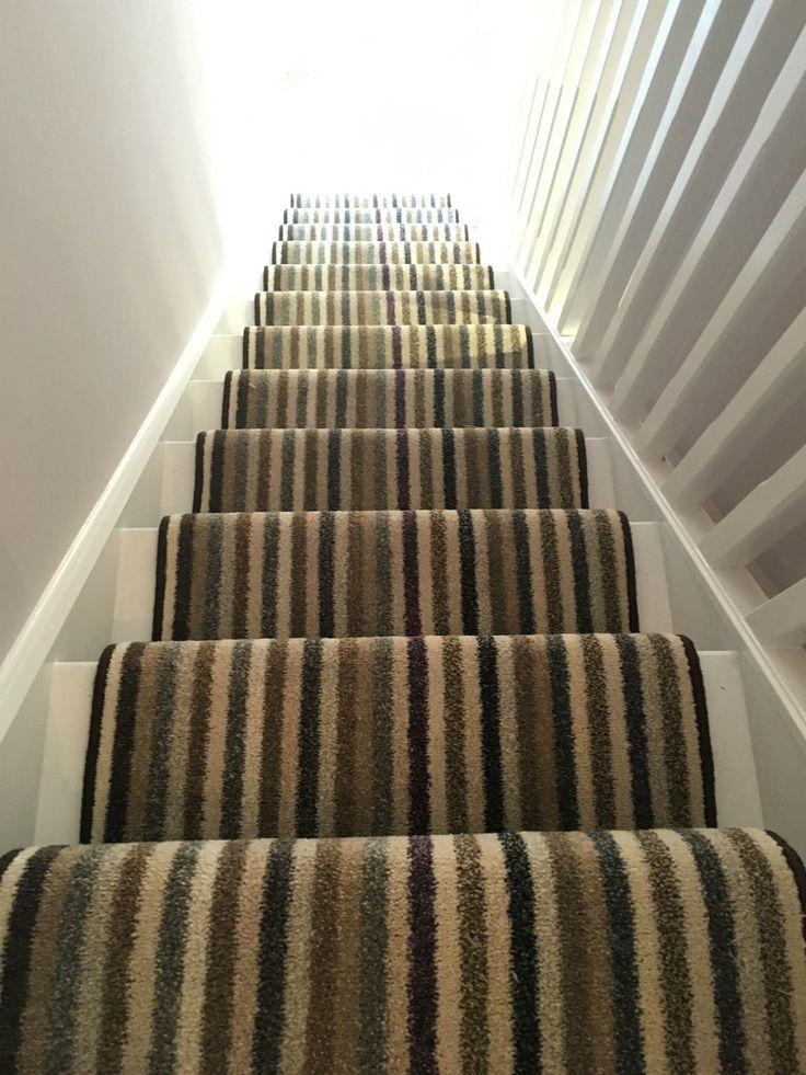 Stair Runner Carpet Stripes