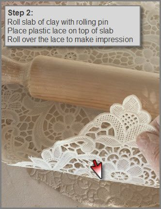 Below is a simple and fun way to use plastic lace with an underglaze to create some cool patterns on clay.