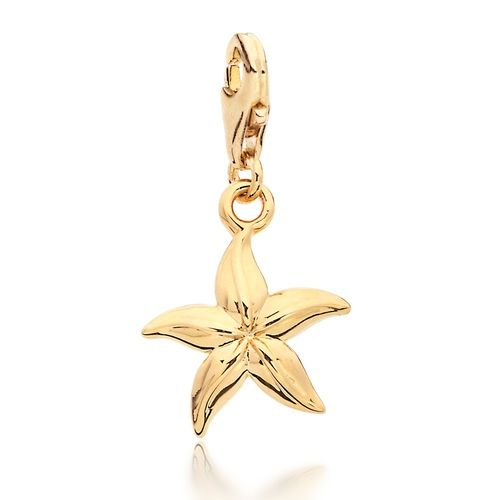Starfish Charm Gold Plated