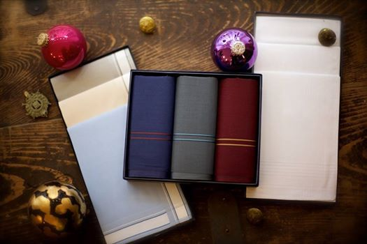 """""""On the Third day of Christmas my true love sent to me Three Handy Hankies...""""  When Jack Frost is nipping at your nose, choose one of these fine cotton handkerchiefs - so much more chic and elegant than paper."""