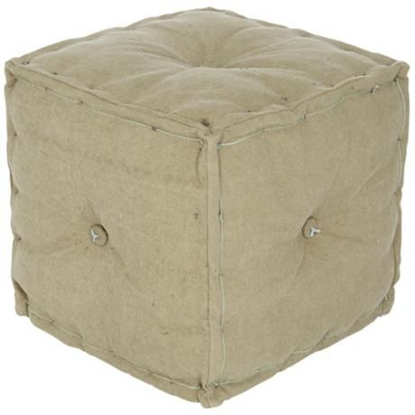 angelo:HOME Marco Faded Tent Cube Ottoman - Lamps Plus $89.89+free shipping