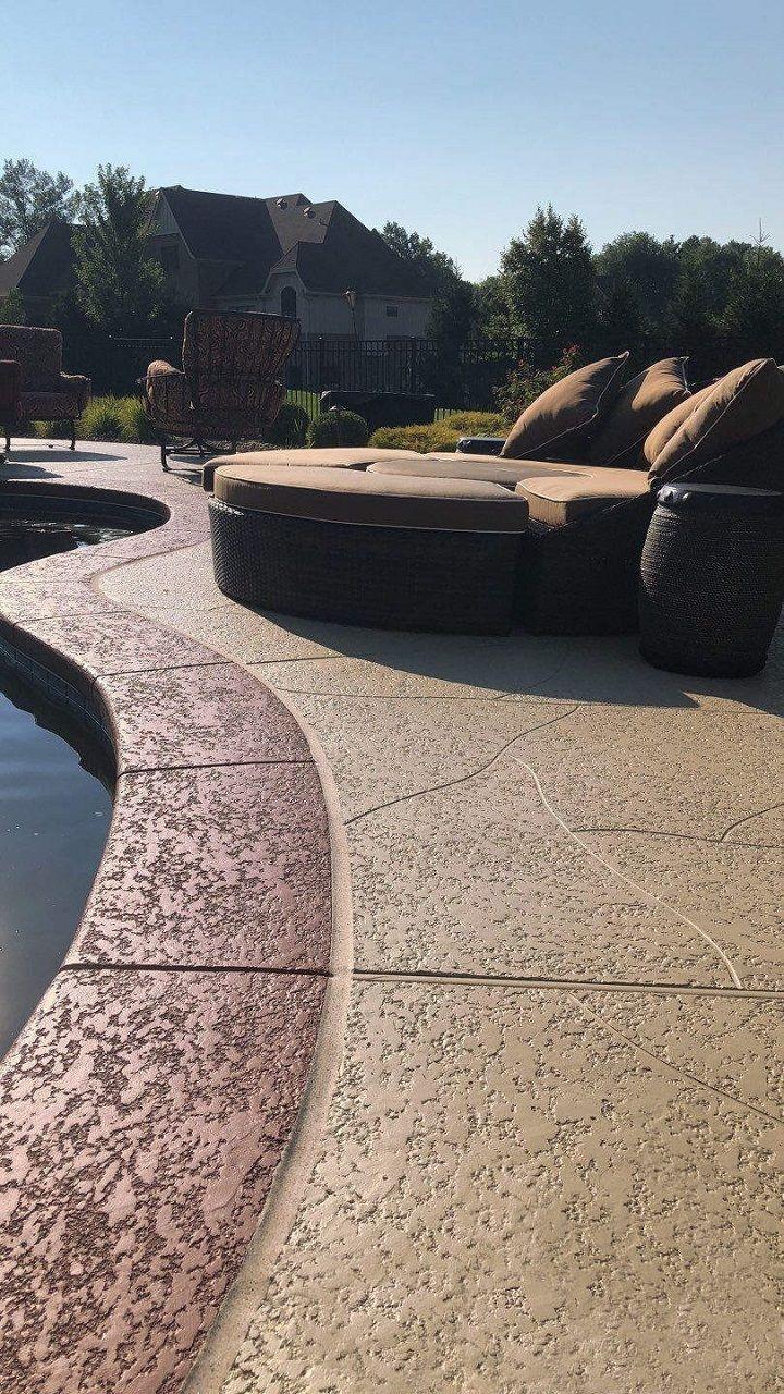 Pool Deck Ideas St Louis Mo Decorative Concrete Resurfacing Pool Deck Ideas Inground Concrete Resurfacing Decks Around Pools