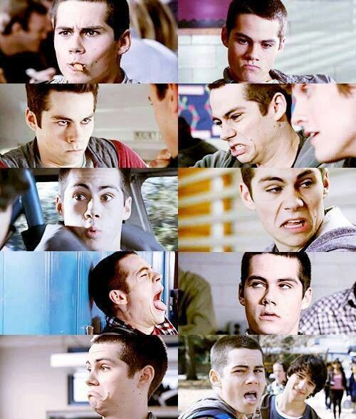 i love how dylan isn't afraid of being expressive with his face.  LOVE IT.