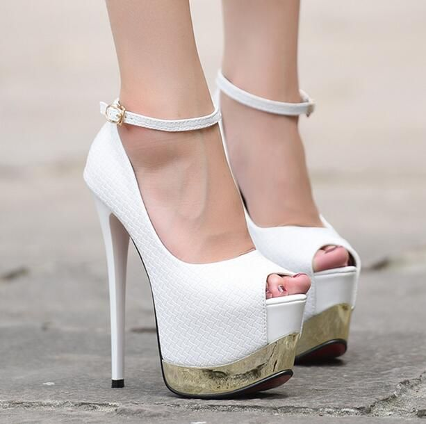 Cheap heel sandle, Buy Quality heel directly from China buckle retail Suppliers:  Descriptions :         8-Free shipping 2016 new vogue snake pattern single shoes women platform pumps fashi