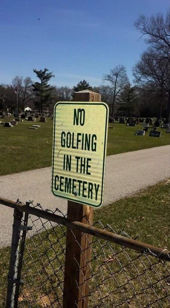 A CLEARLY necessary sign.... | Rock Bottom Golf #RockBottomGolf